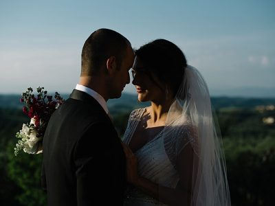 E & Y Intimate garden wedding in Tuscany